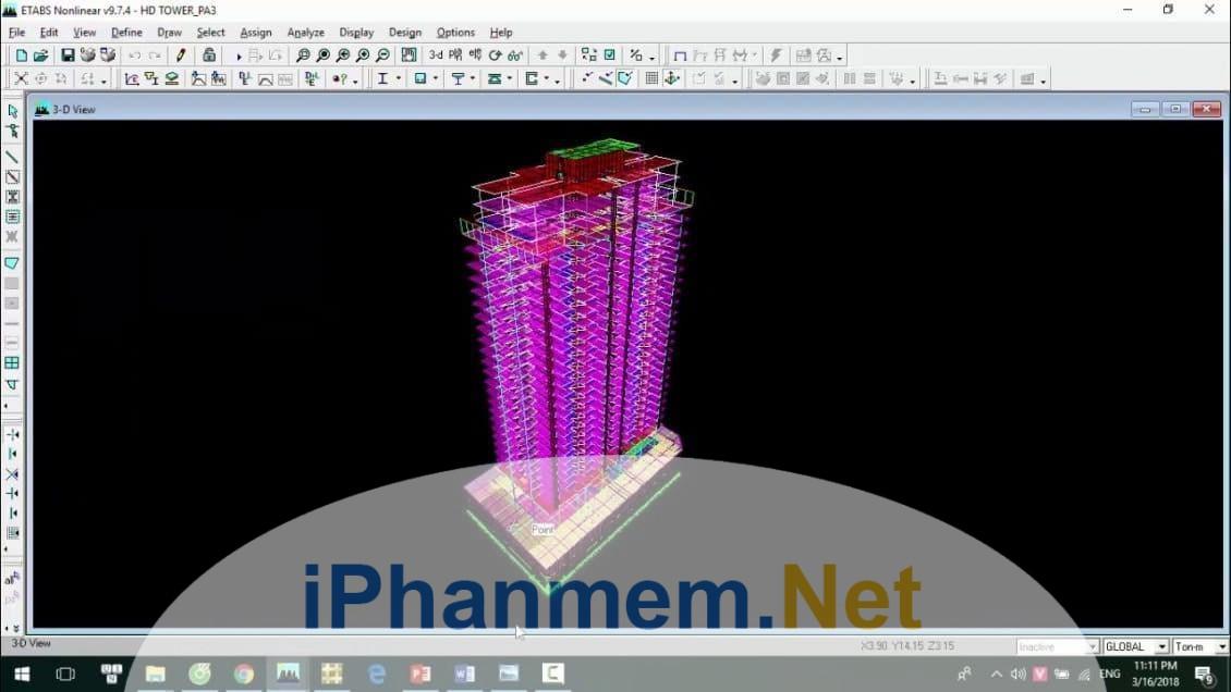 Etabs là phần mềm chuyên dụng hỗ trợ tính toán và phân tích kết cấu nhà cao tầng chuẩn xác, chuyên nghiệp