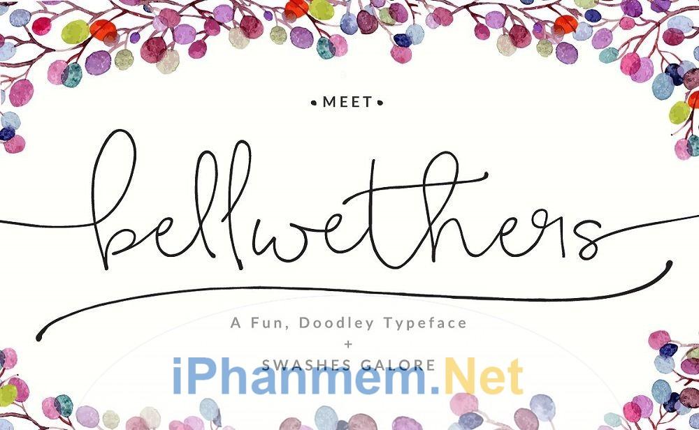 Font chữ ký việt hóa Bellwethers