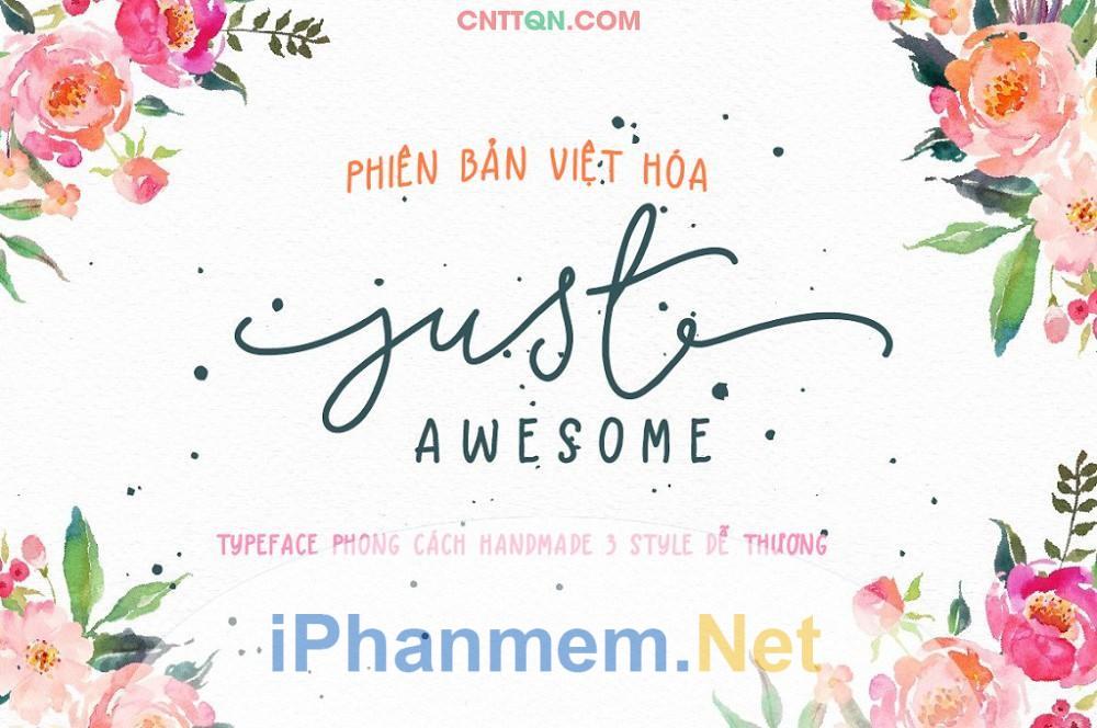 Font chữ ký Just Awesome